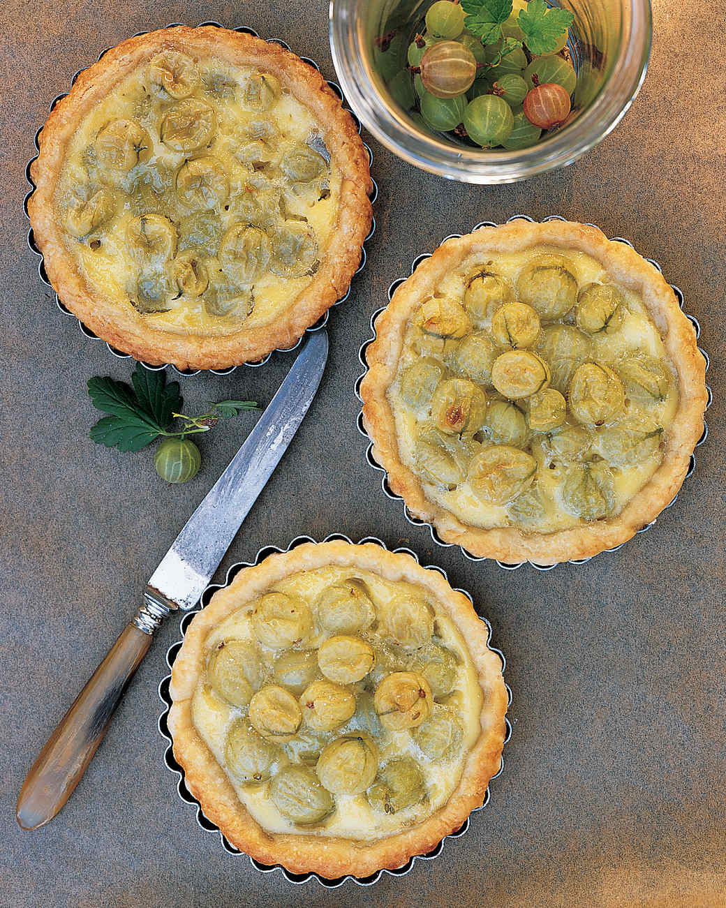 Gooseberry Custard Tartlets