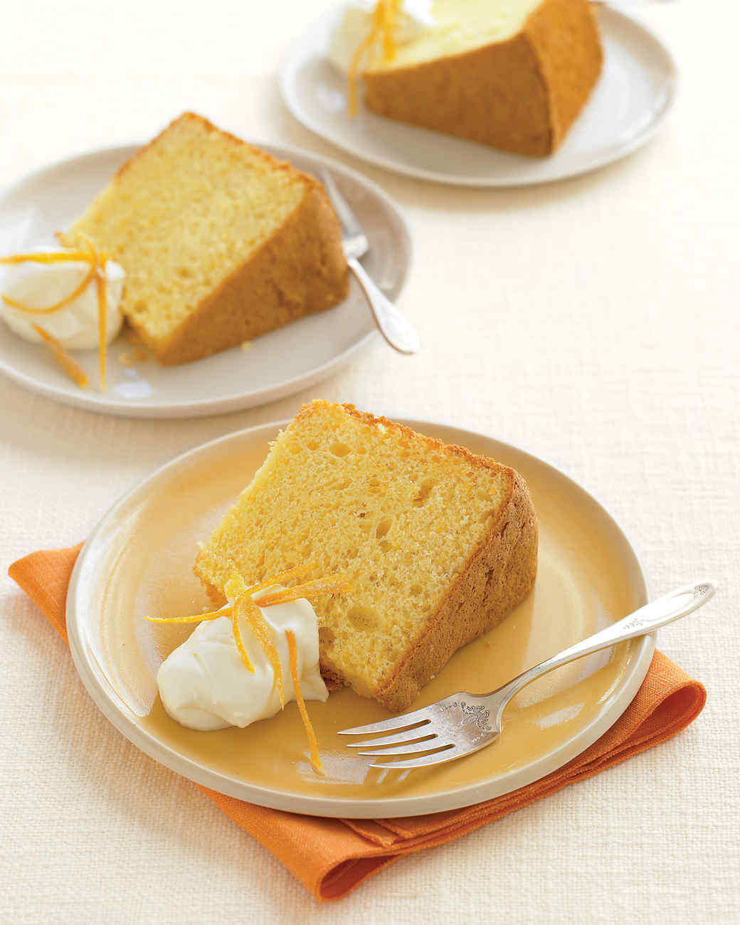 Orange Chiffon Cake with Vanilla Whipped Cream