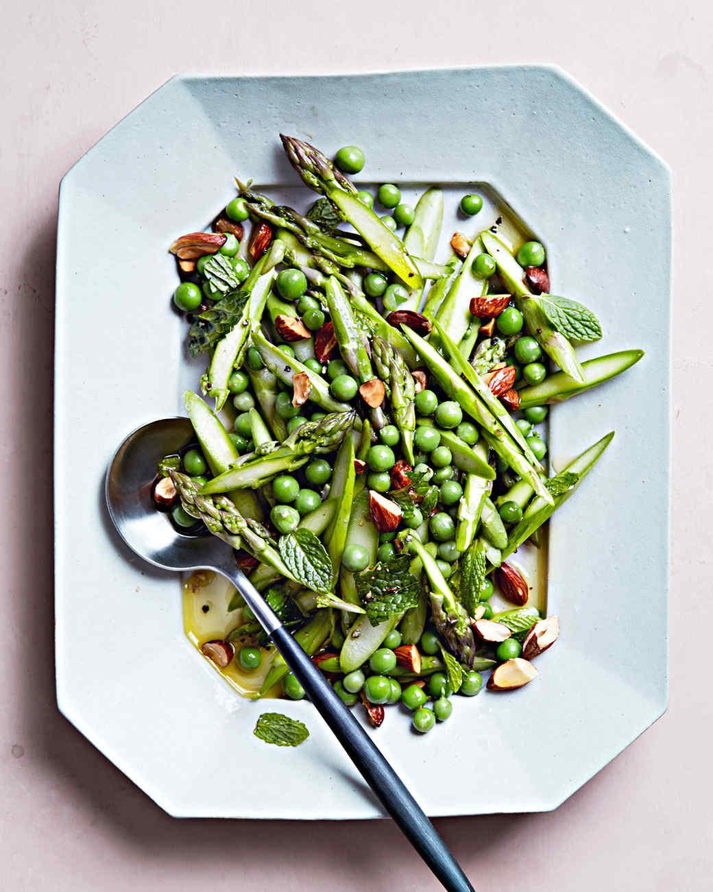 pea and asparagus salad