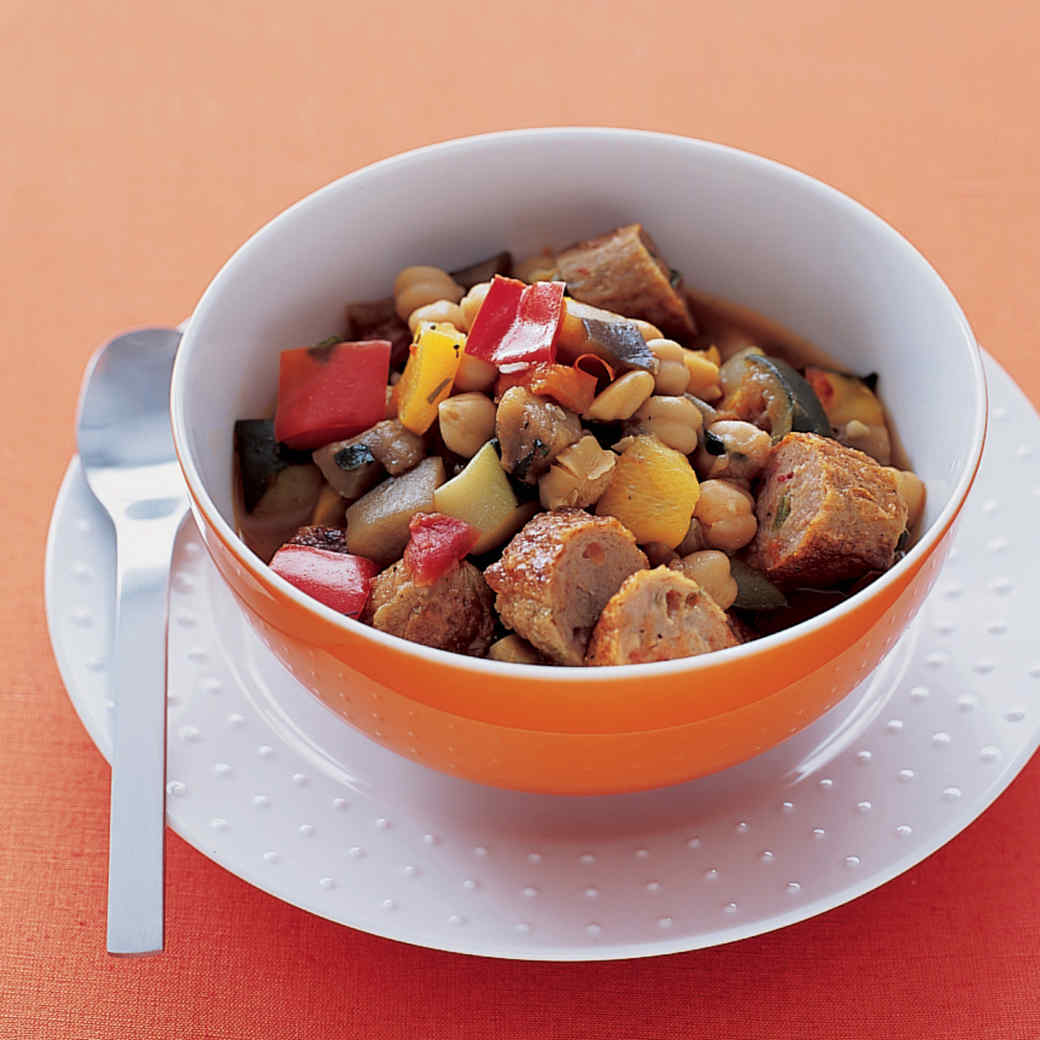 Ratatouille with Sausage and Chickpeas