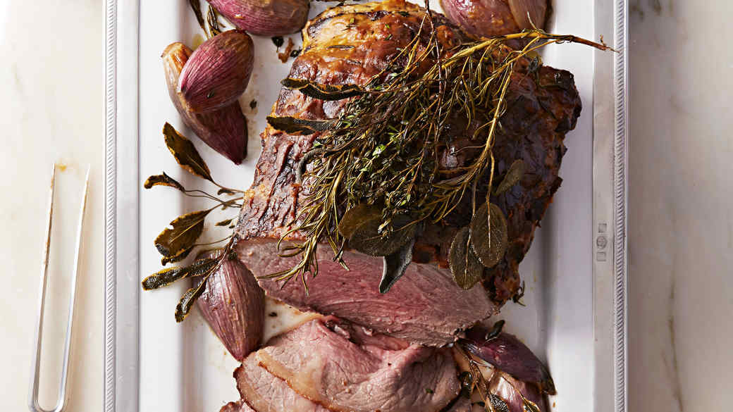 Roast Beef with Shallots