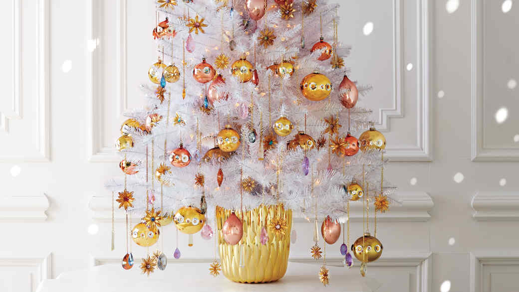 Flower and Gem Christmas Ornaments