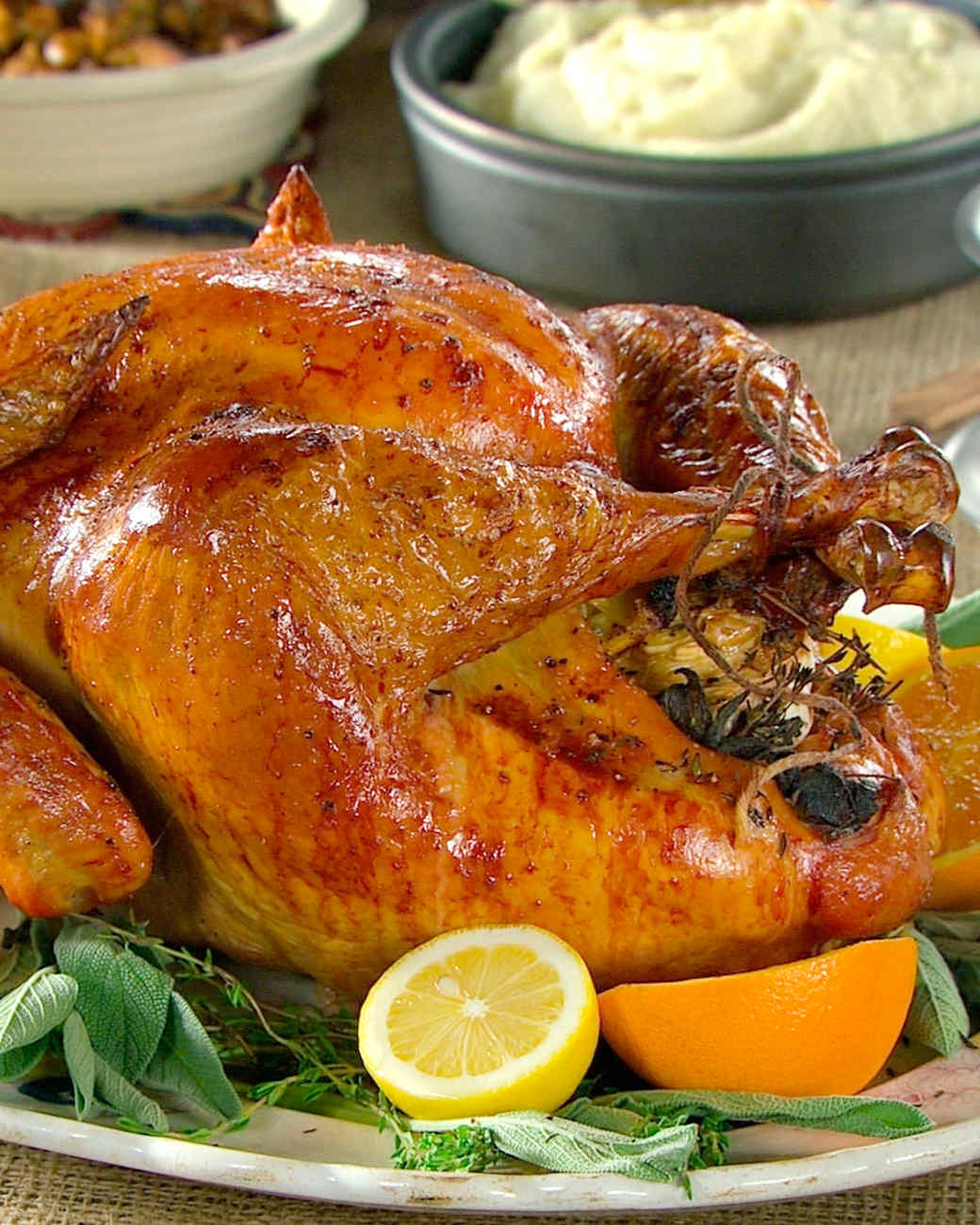 turkey stuffed with lemon and herbs