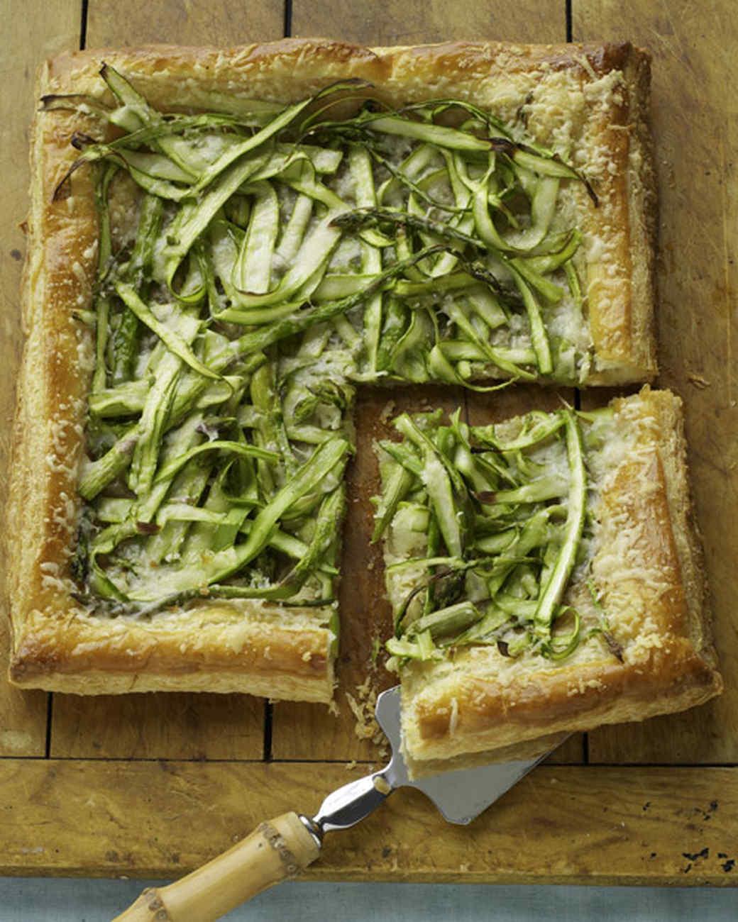Asparagus-Parmesan Tart Recipe & Video   Martha Stewart