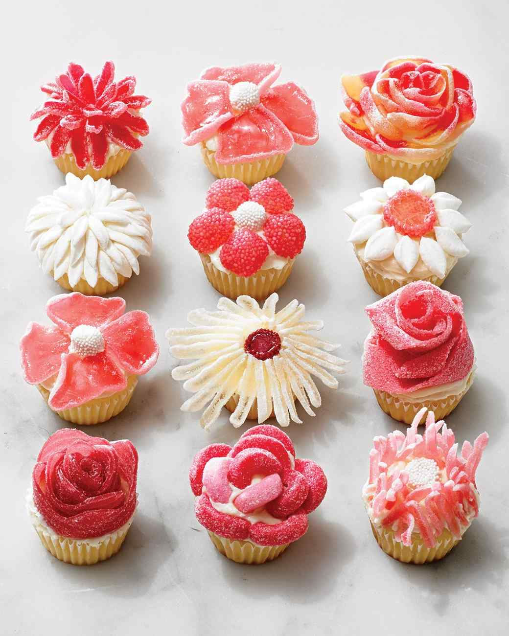 Candy Flower Cupcakes No Piping Required