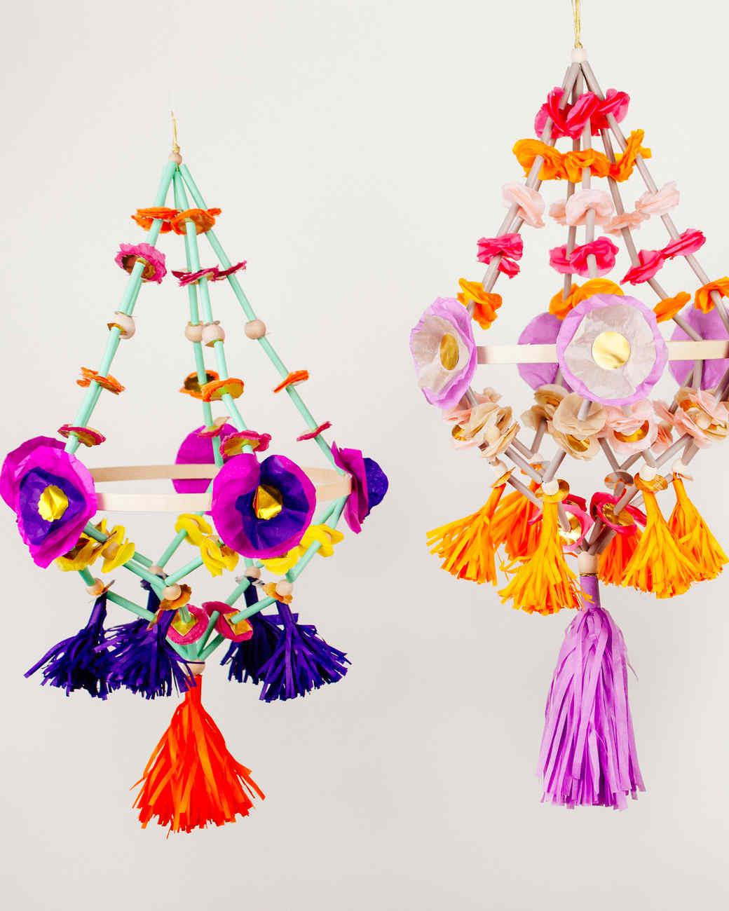 Diy pajaki paper chandeliers martha stewart for Chandelier craft ideas