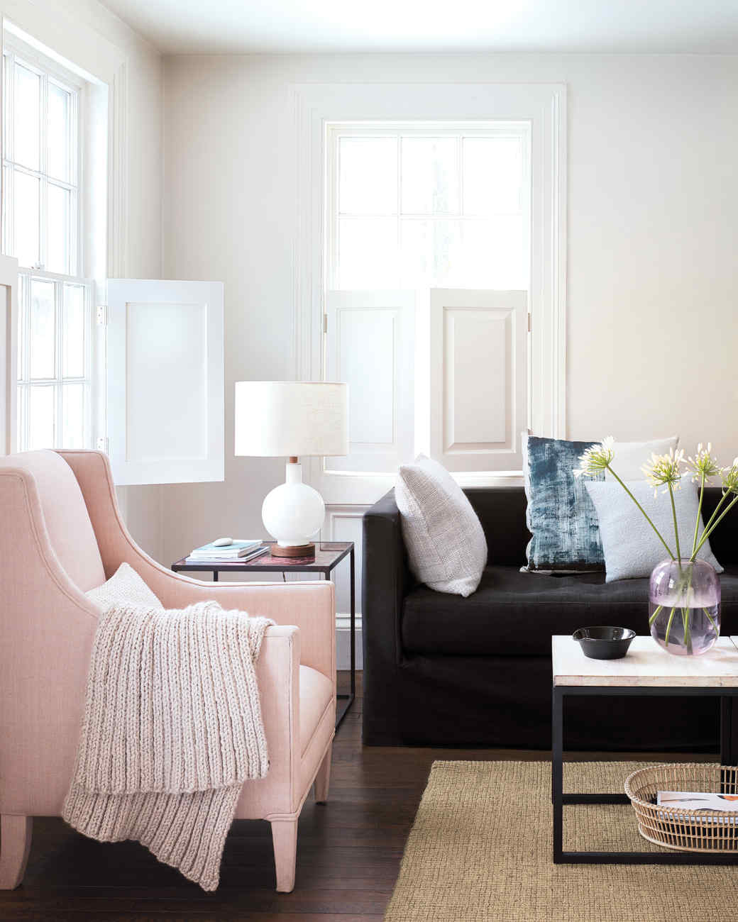 Banish clutter how to organize every room in your home martha stewart - How to organize living room ...