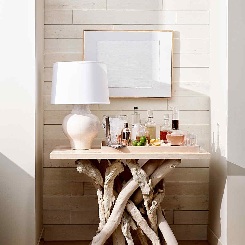 white wood paneling driftwood