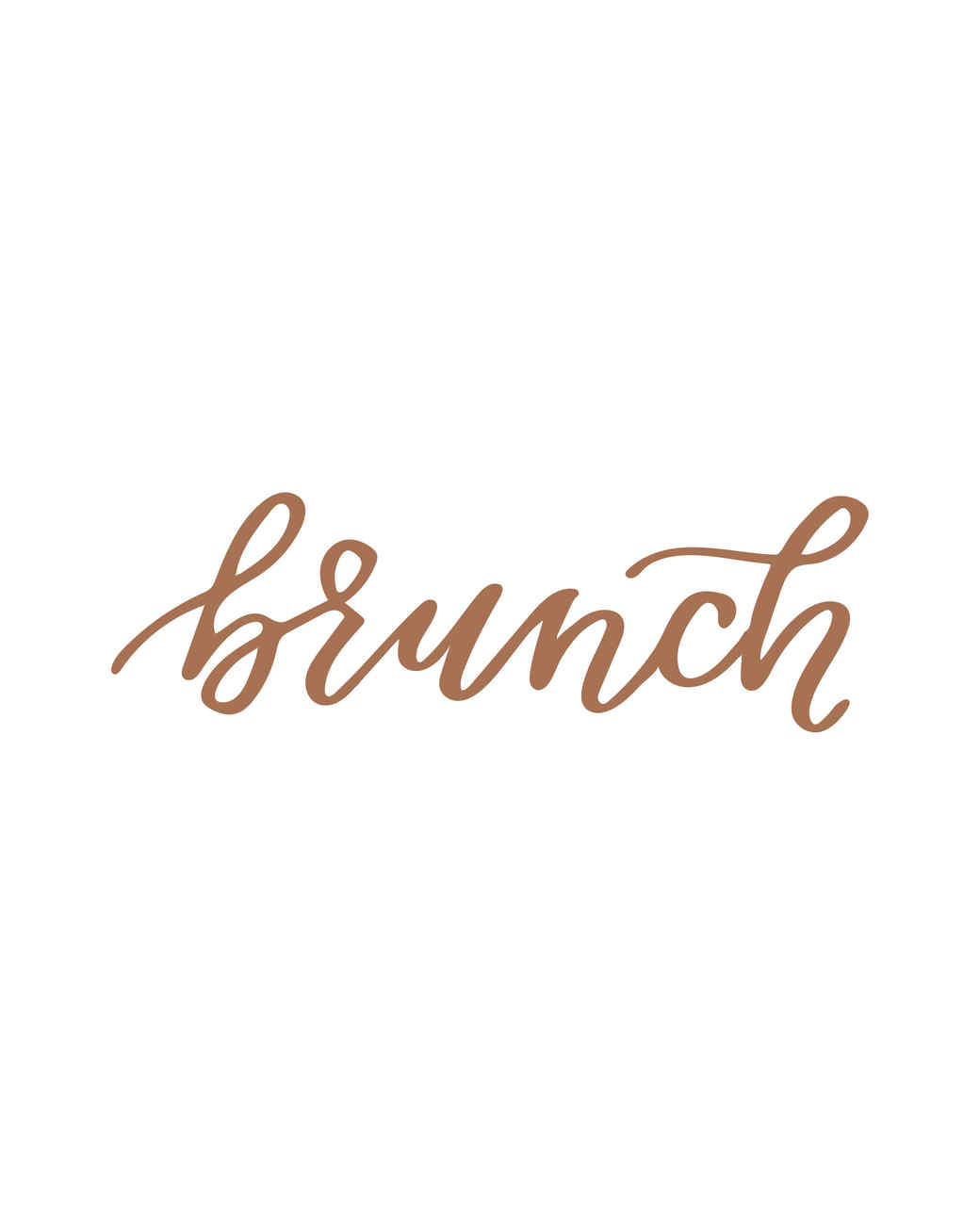 """brunch"" calligraphy"