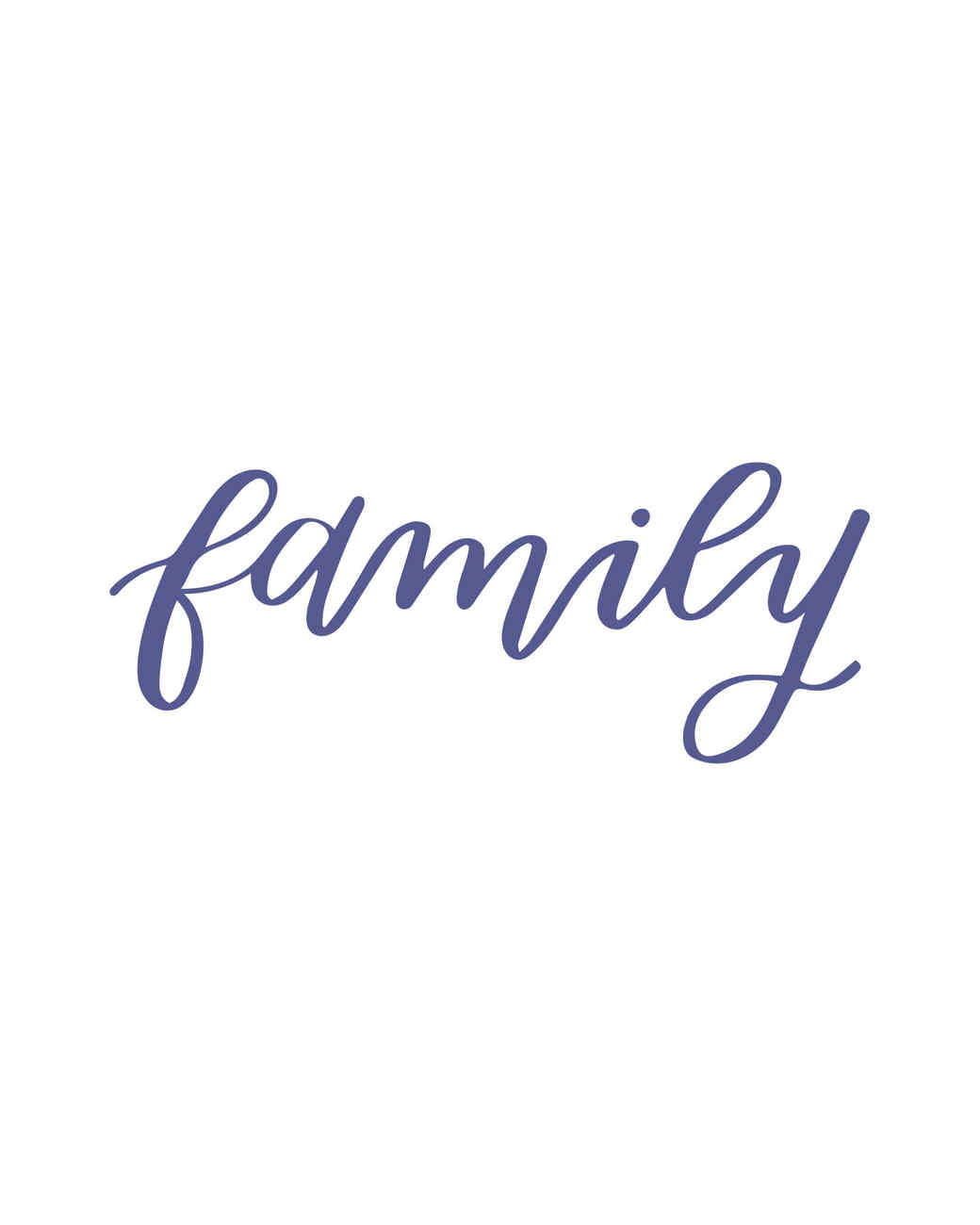 """family"" in calligraphy"