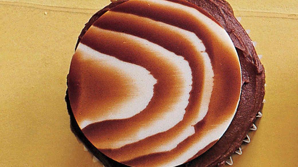 Chocolate Faux Bois Cupcakes