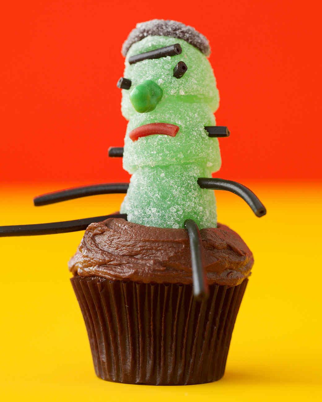 freaky frankenstein cupcake