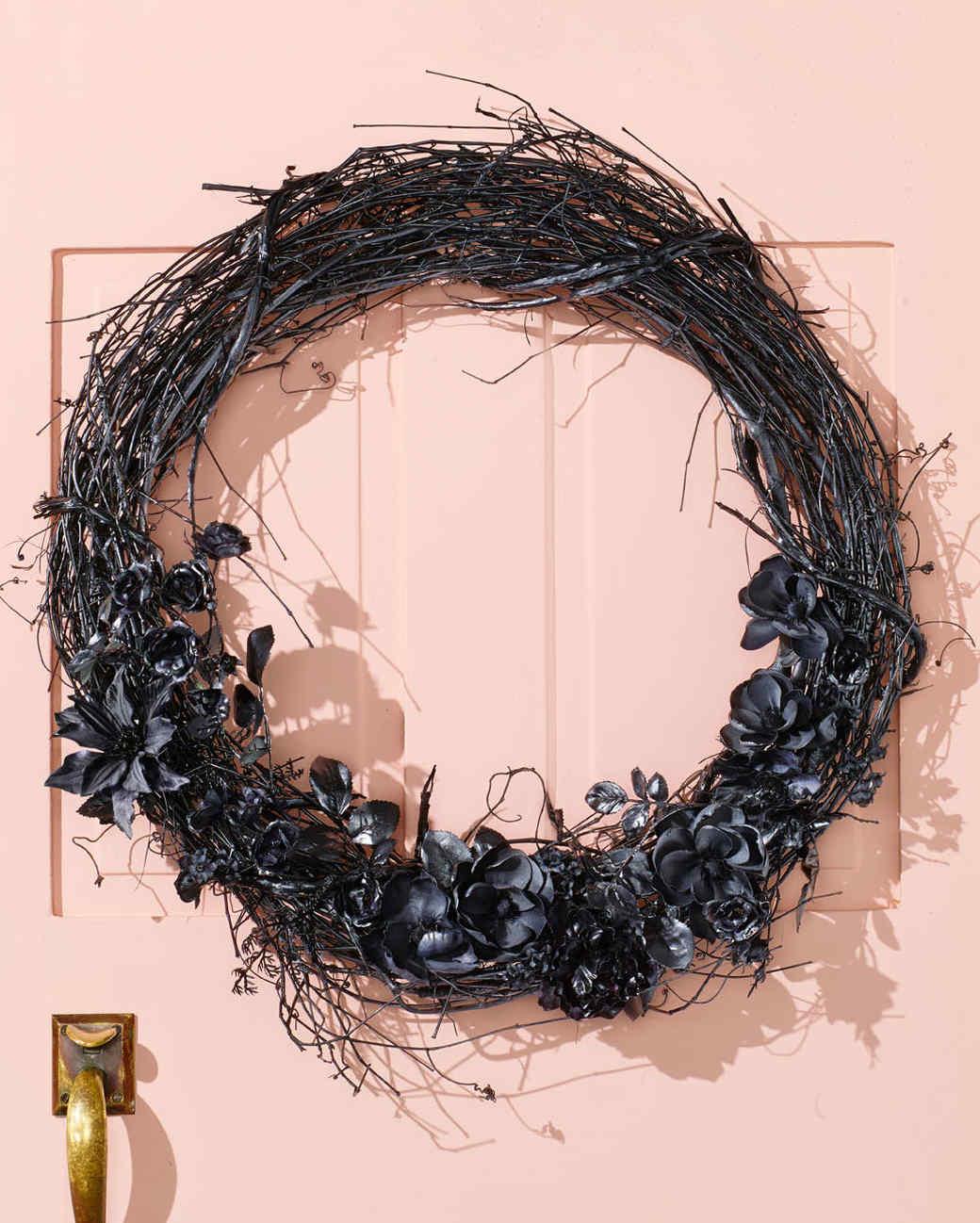 black magic halloween wreath