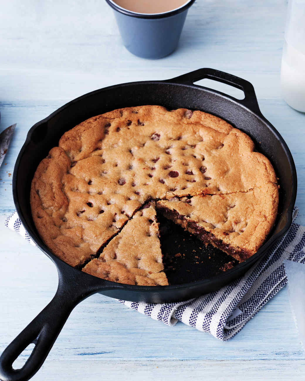 Skillet Chocolate Chip Cookie Recipe & Video | Martha Stewart