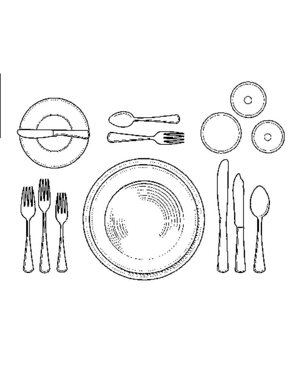 Proper table setting diagram diagram of a formal table setting - Setting The Table For Soup