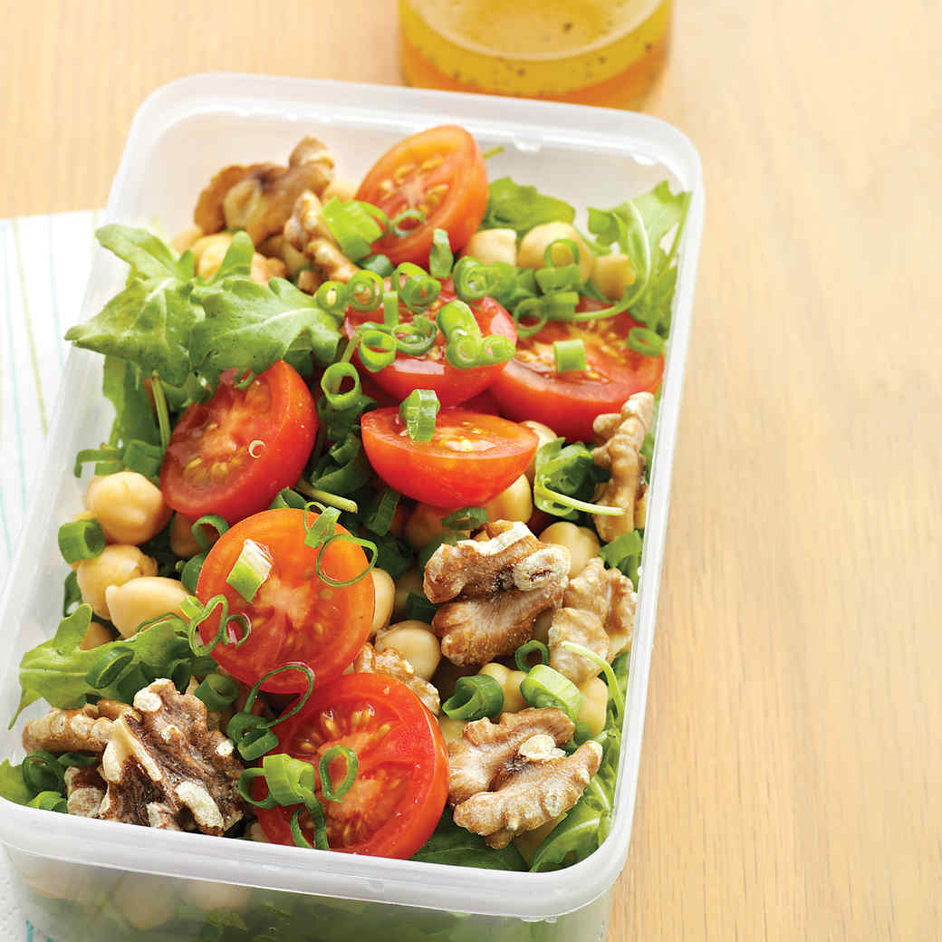 Tomato, Chickpea, and Arugula Salad