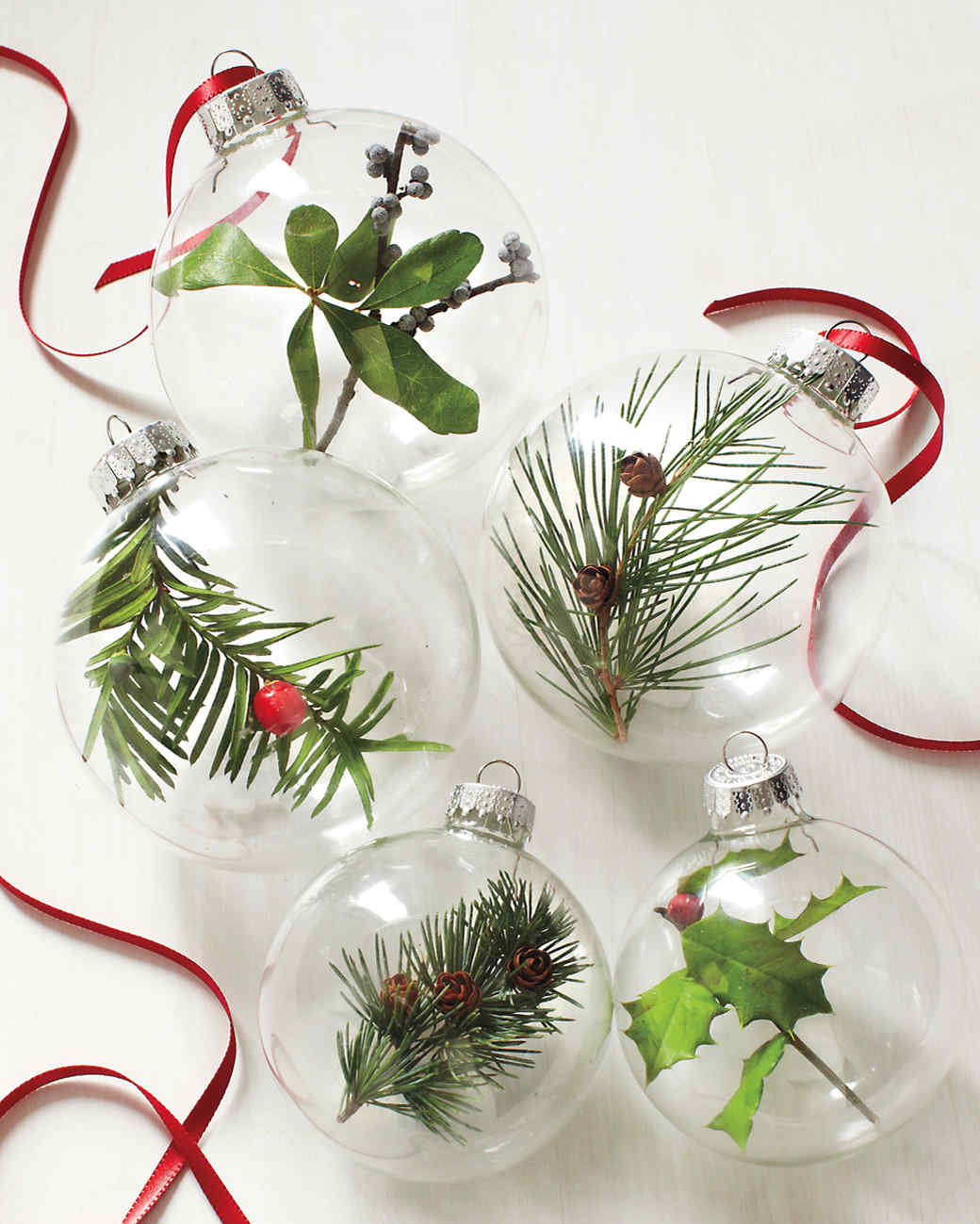 Holly christmas ornaments - Nature Ornaments