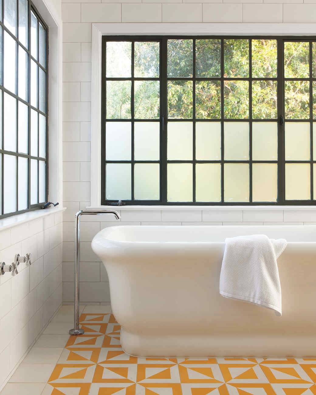 Our favorite bathrooms martha stewart for Bathroom ideas yellow tile