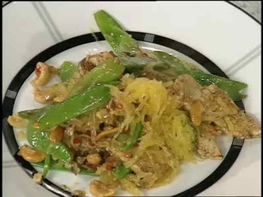 Chicken and Spaghetti Squash Stir Fry