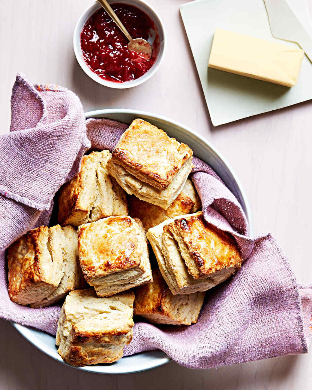 classic buttermilk biscuits with jam butter