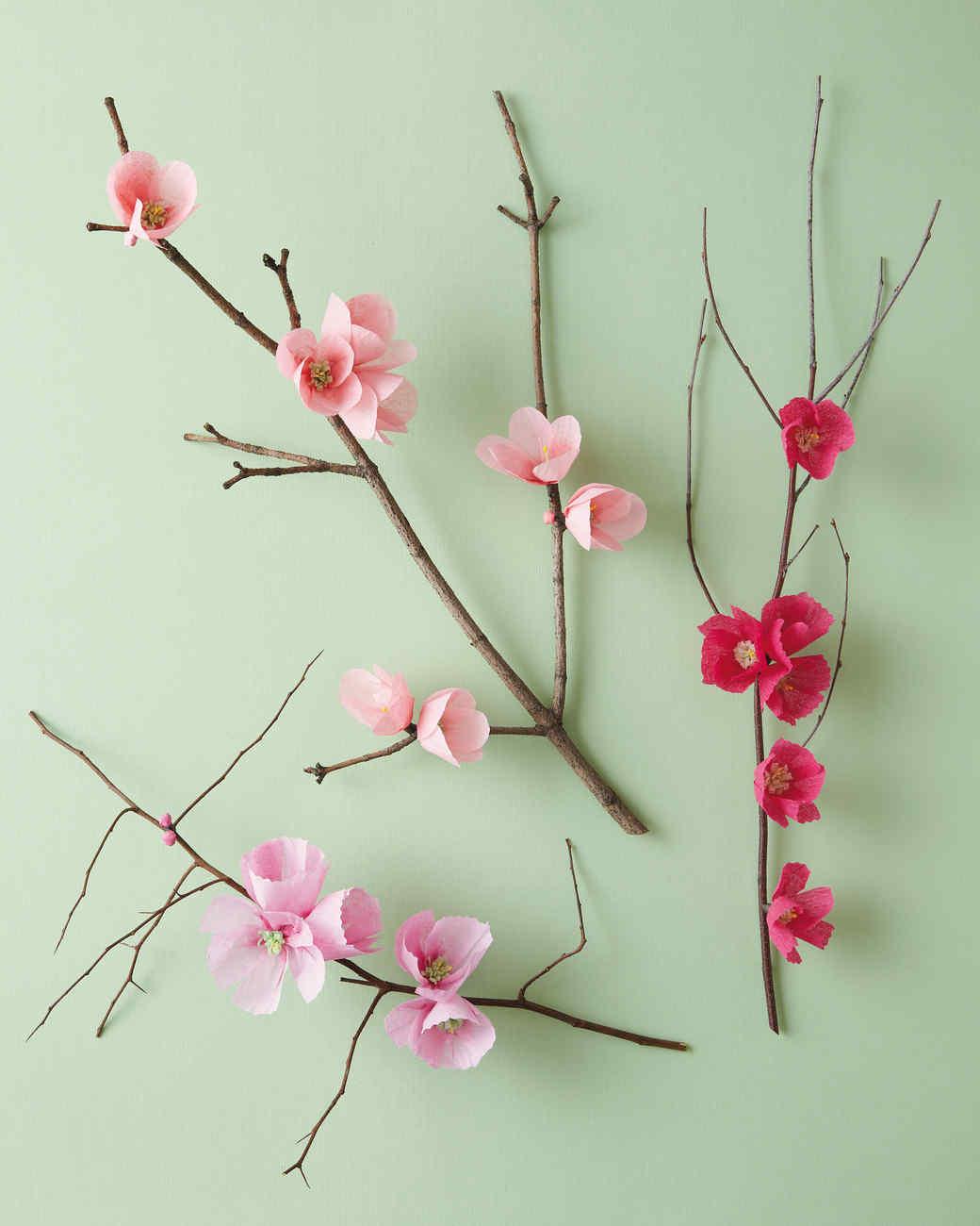 Цветы вишни из бумаги своими руками
