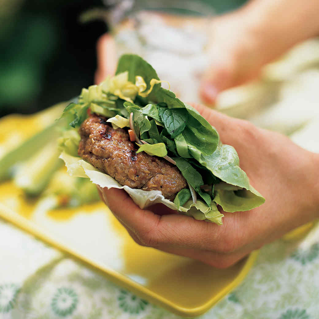 Lemongrass Pork Burgers