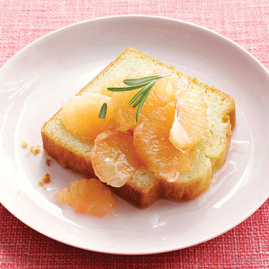 Grapefruit Compote with Pound Cake