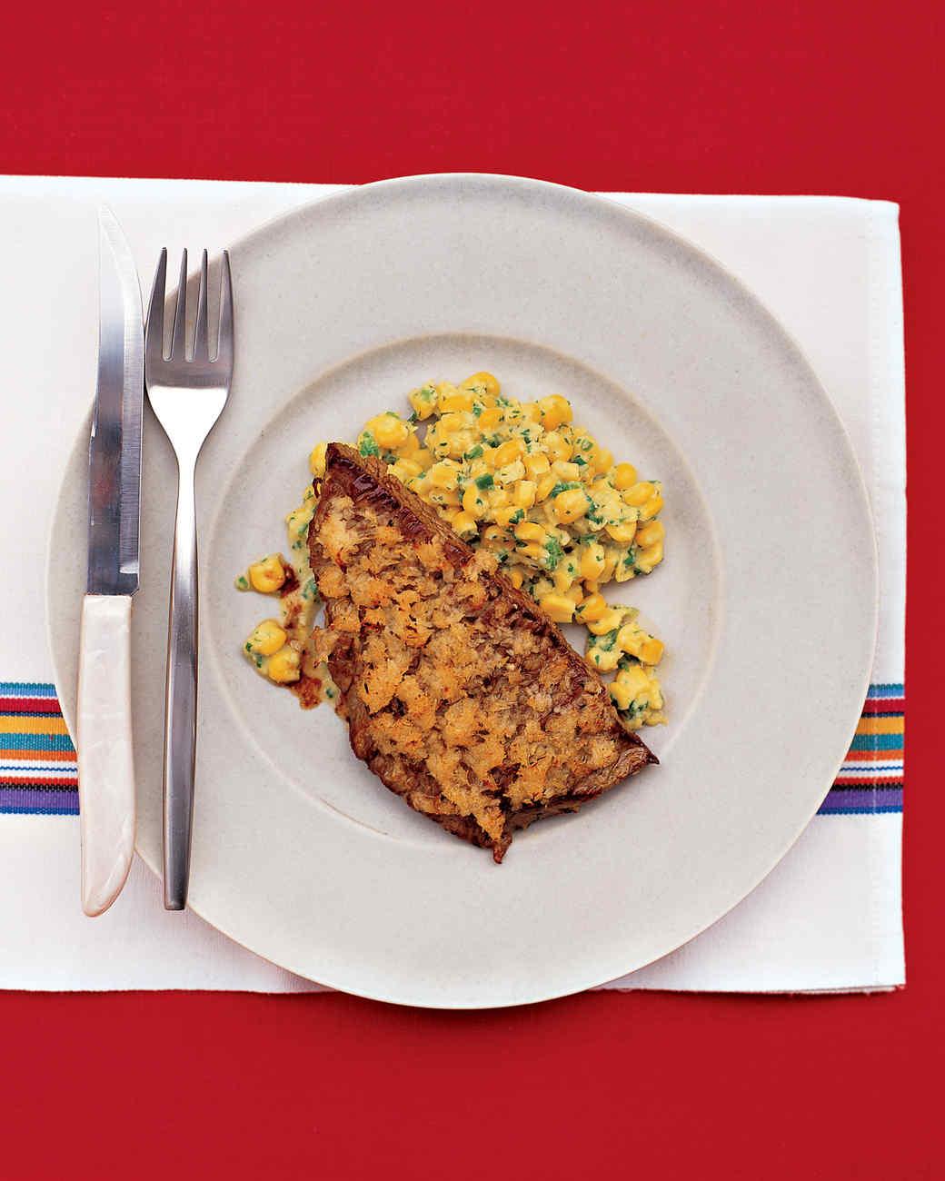 Horseradish-Crusted Flank Steak