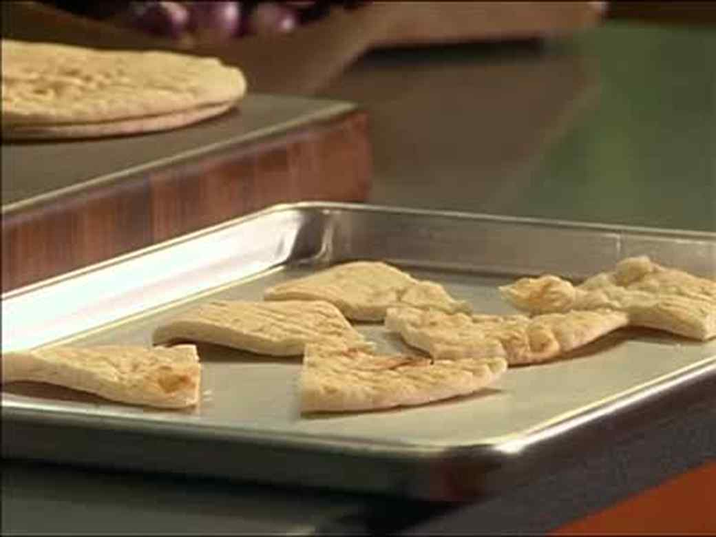 Mutabbel with Zaatar Spiced Pita Bread