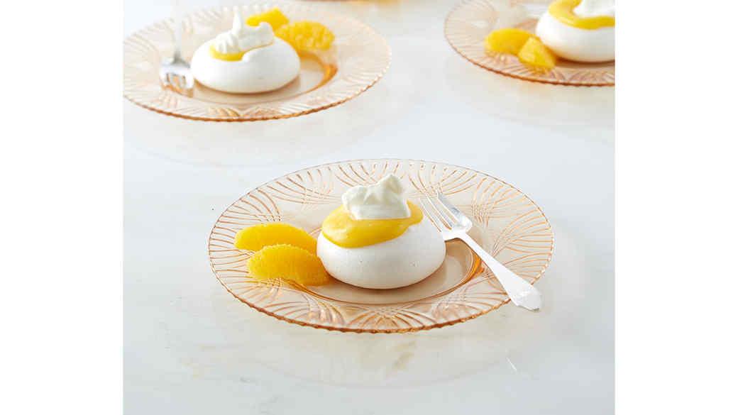 Orange Curd-Filled Pavlovas