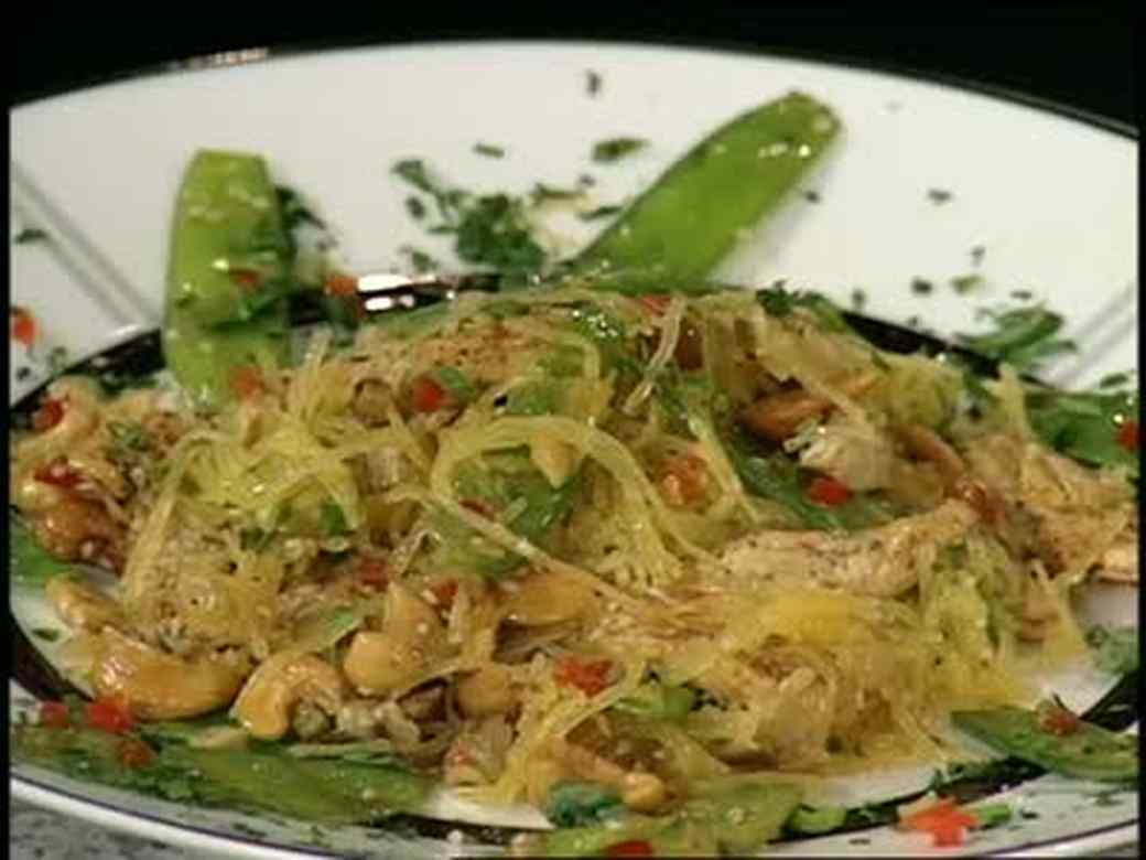 Peppered Flounder and Spaghetti Squash
