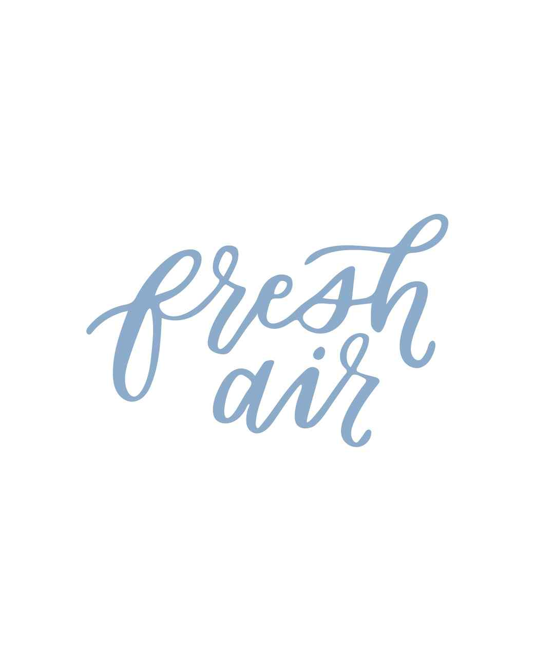 """fresh air"" calligraphy"