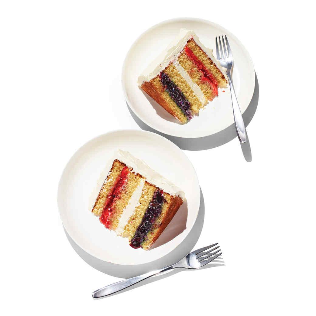 Wavy Flag Cake