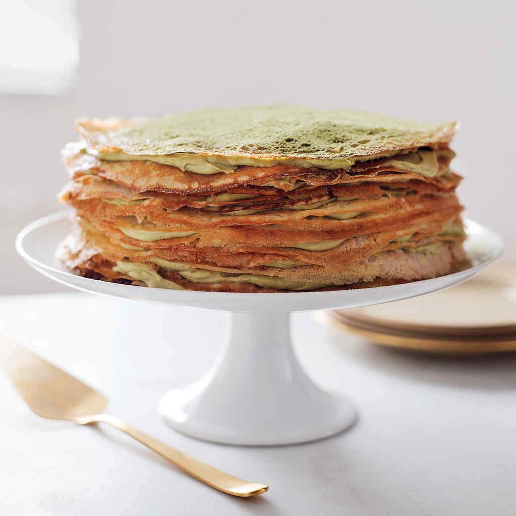 Green Tea Crepe Cake