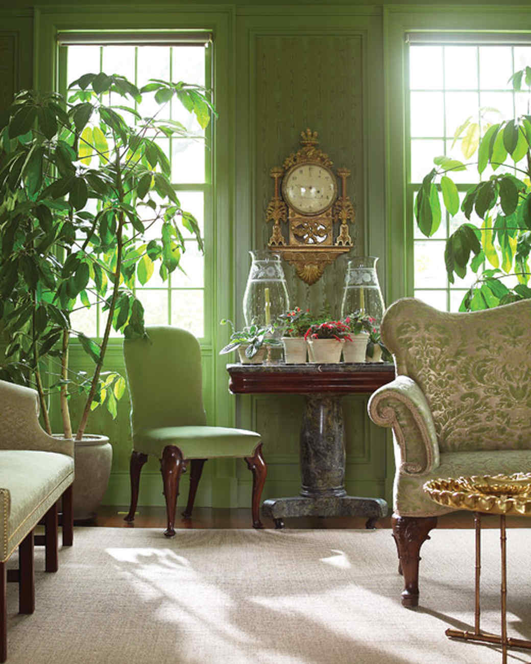 Decorating With Green Marthas Home Decorating With Houseplants Martha Stewart