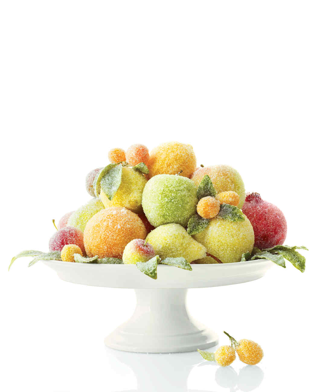 Sugar quot plums holiday centerpiece martha stewart