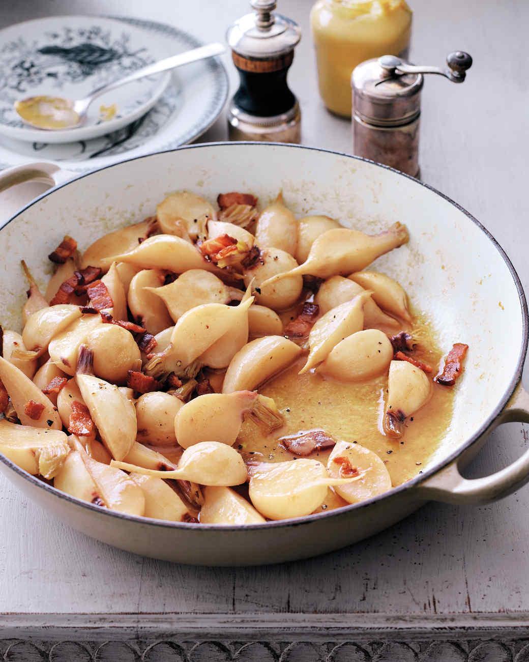 Glazed Turnips with Bacon
