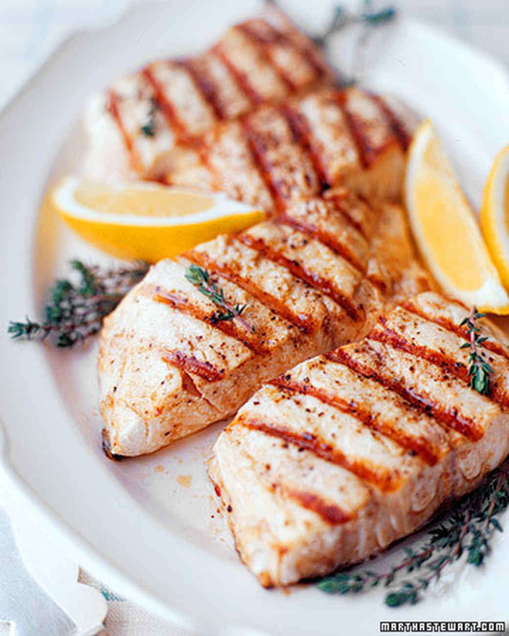 Grilled striped bass for Sea salt fish grill