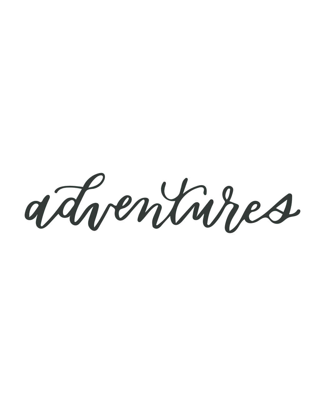 """adventures"" in calligraphy"