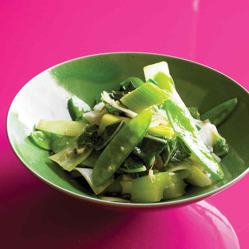 Green Vegetable Stir-Fry