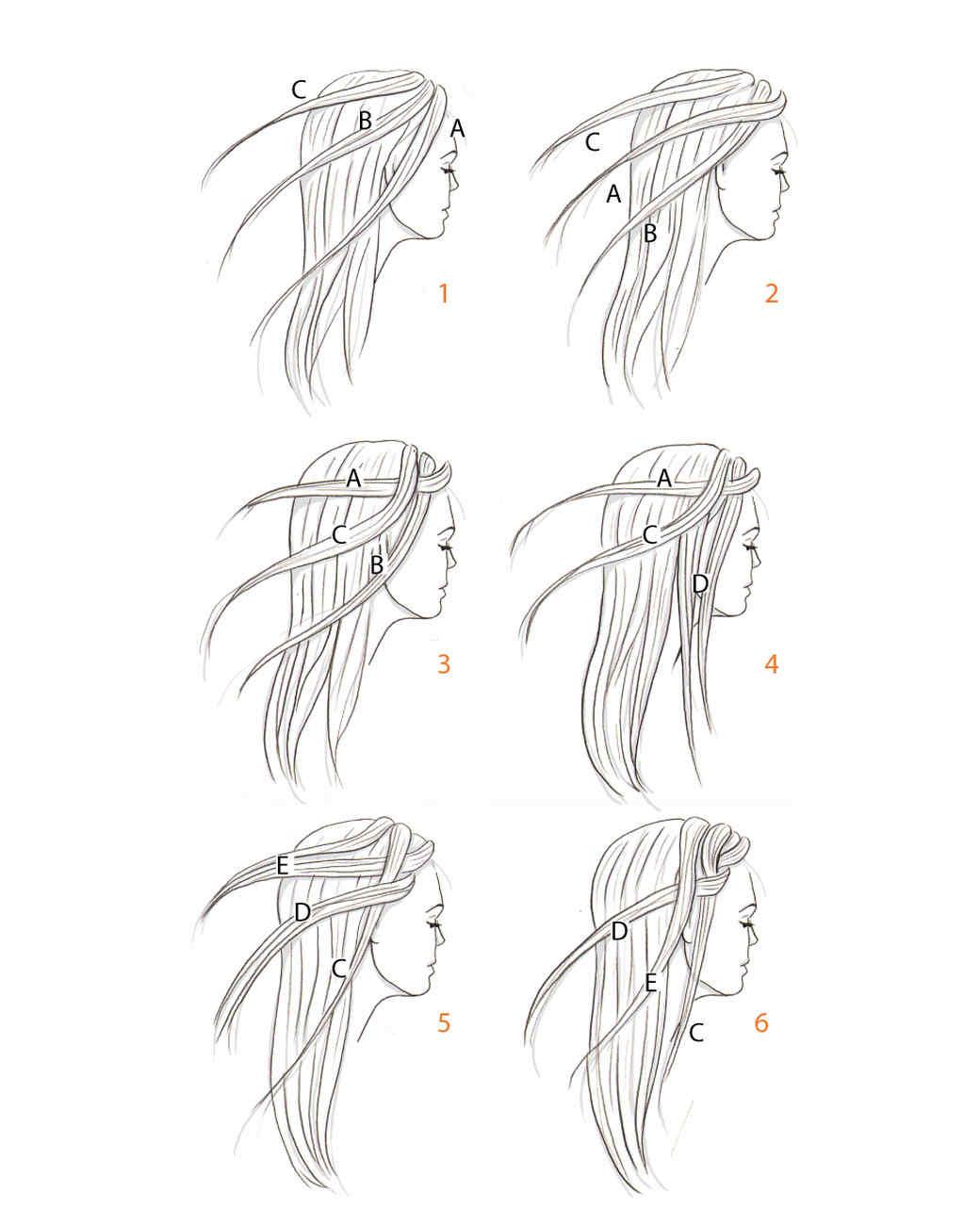 how to braid hair diagram hair braiding how to martha stewart