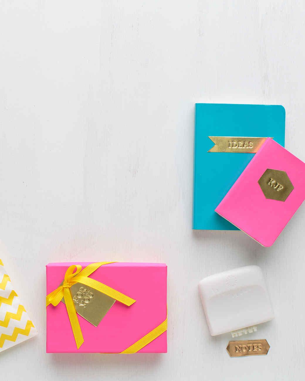 Martha Stewart Wedding Gift Tags : Super-Chic Stamped-Metal Gift Tags Martha Stewart