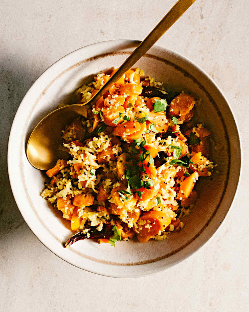 stir fried carrots with coconut