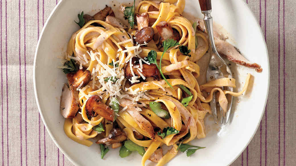 Chicken and Mushroom Tagliatelle