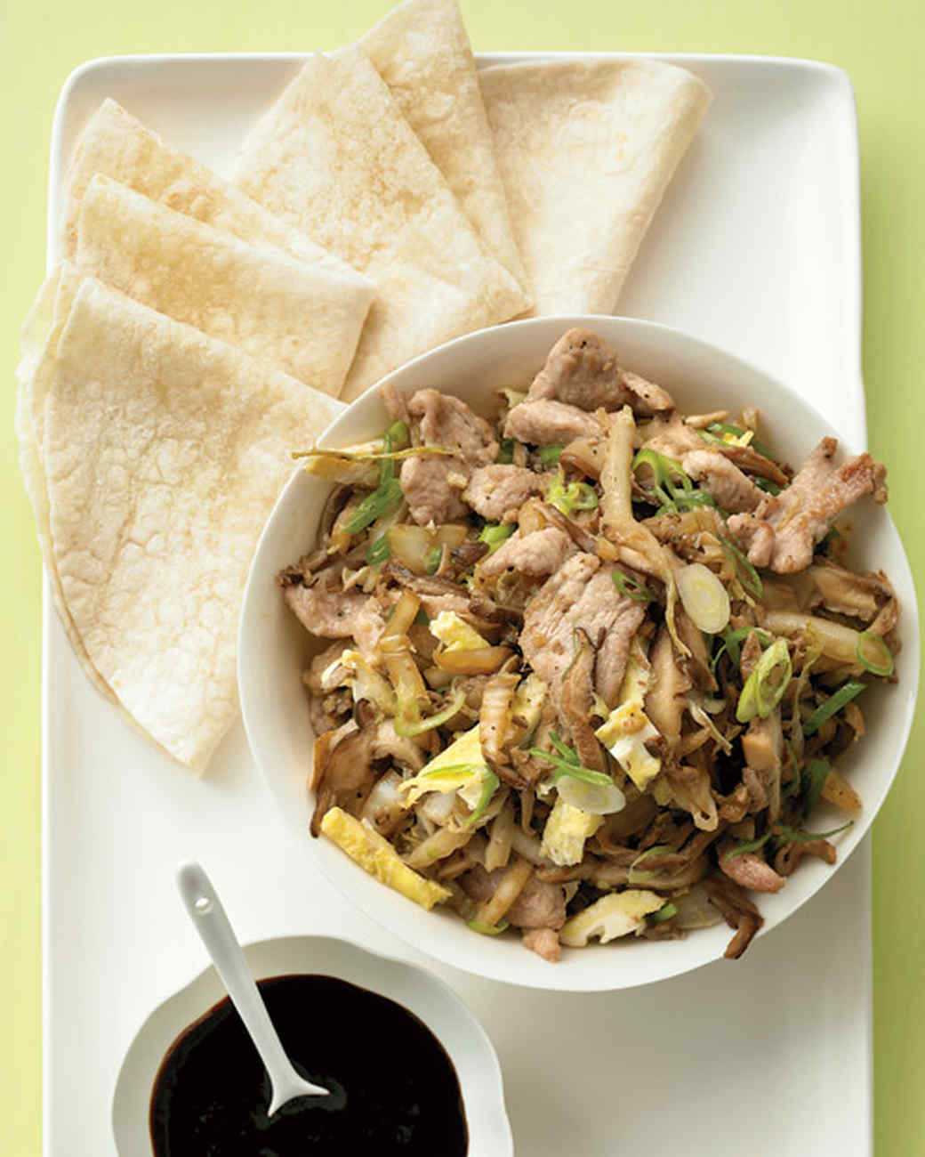 Easy Moo Shu Pork with Tortillas