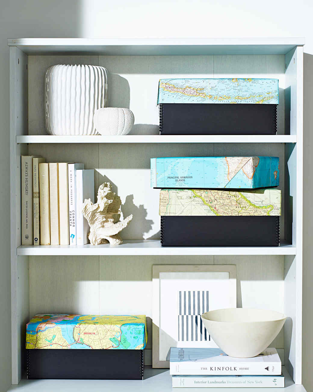 vacation memory box shelf