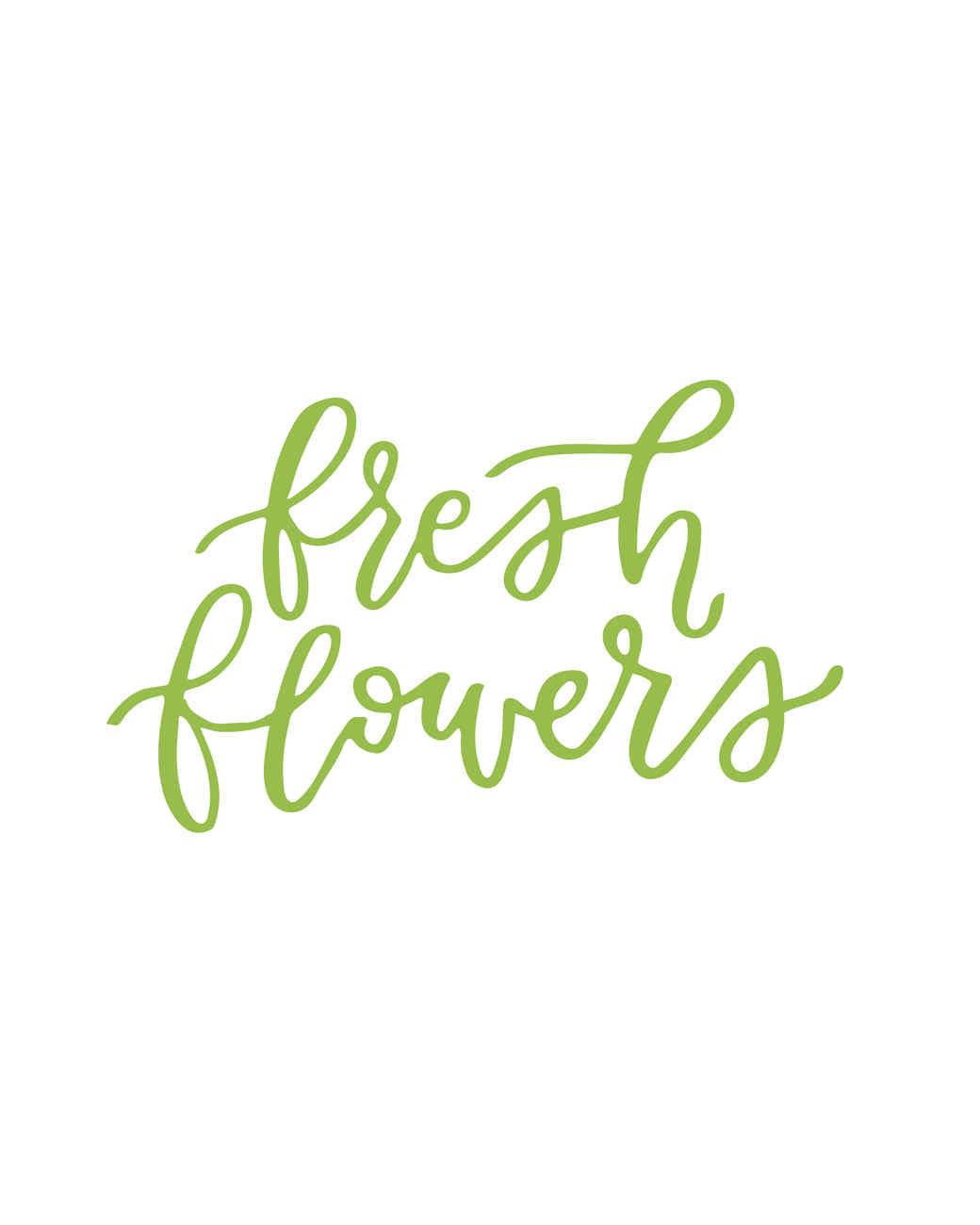 """fresh flowers"" calligraphy"