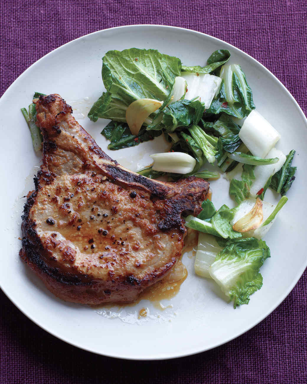 Pork stir-fry recipe with bok choy