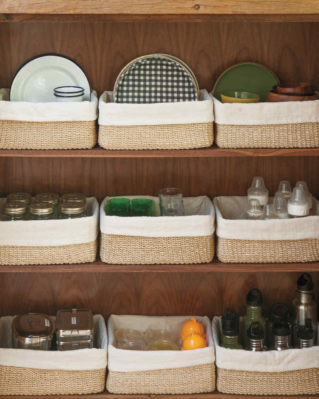 Kitchen Cupboard Organization Jenni Kaynes Kitchen Organizing Tips Martha Stewart