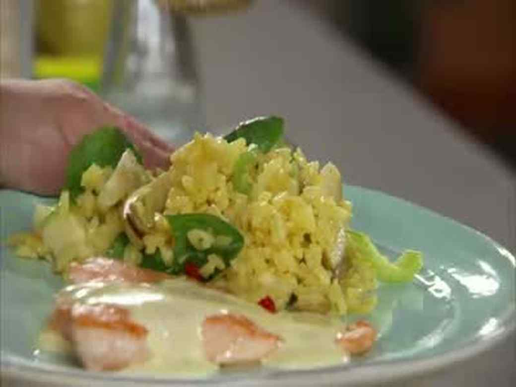 Salmon Hollandaise and Artichoke Rice Salad